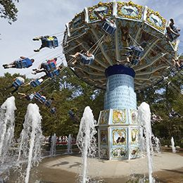 Les chaises volantes au parc d'attraction Le PAL