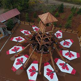 Plongée sur les Ailes du Yukon au parc d'attraction Le PAL