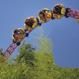 Le Twist dans les airs, attraction à sensation du parc de loisirs Le PAL en Auvergne