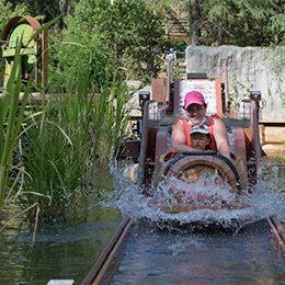 La rivière des castors au parc d'attraction Le PAL